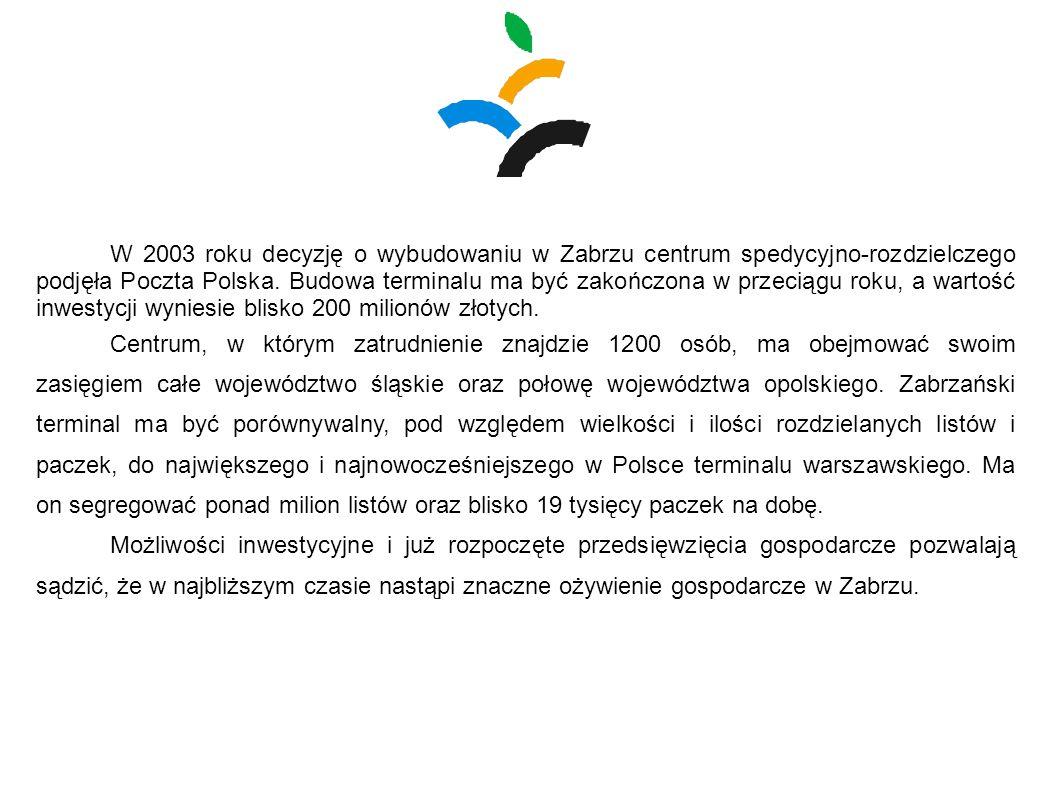 W 2003 roku decyzję o wybudowaniu w Zabrzu centrum spedycyjno-rozdzielczego podjęła Poczta Polska. Budowa terminalu ma być zakończona w przeciągu roku