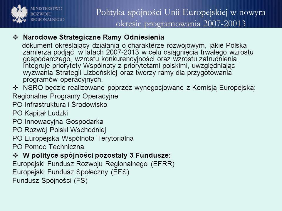 Narodowe Strategiczne Ramy Odniesienia dokument określający działania o charakterze rozwojowym, jakie Polska zamierza podjąć w latach 2007-2013 w celu