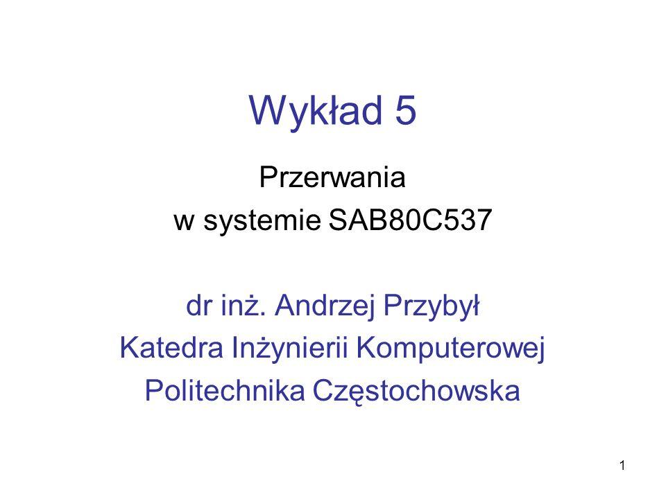 2 Struktura systemu przerwań maskowalnych* w SAB 80C537 część 1