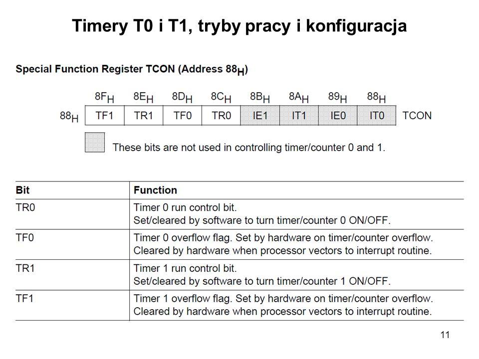 11 Timery T0 i T1, tryby pracy i konfiguracja