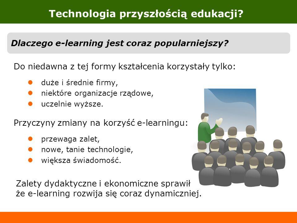 Dlaczego e-learning jest coraz popularniejszy? Do niedawna z tej formy kształcenia korzystały tylko: duże i średnie firmy, niektóre organizacje rządow