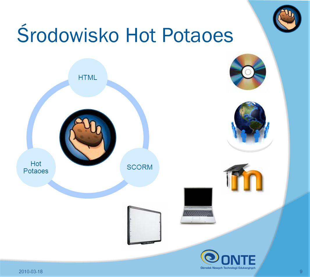 Środowisko Hot Potaoes 2010-03-189 HTMLSCORM Hot Potaoes