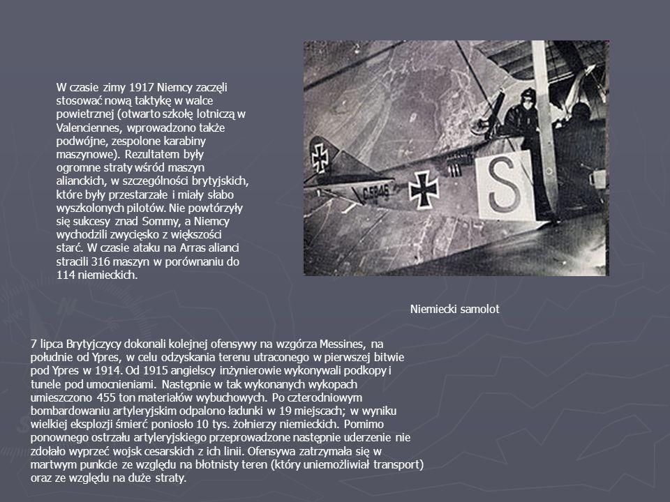 W czasie zimy 1917 Niemcy zaczęli stosować nową taktykę w walce powietrznej (otwarto szkołę lotniczą w Valenciennes, wprowadzono także podwójne, zespolone karabiny maszynowe).