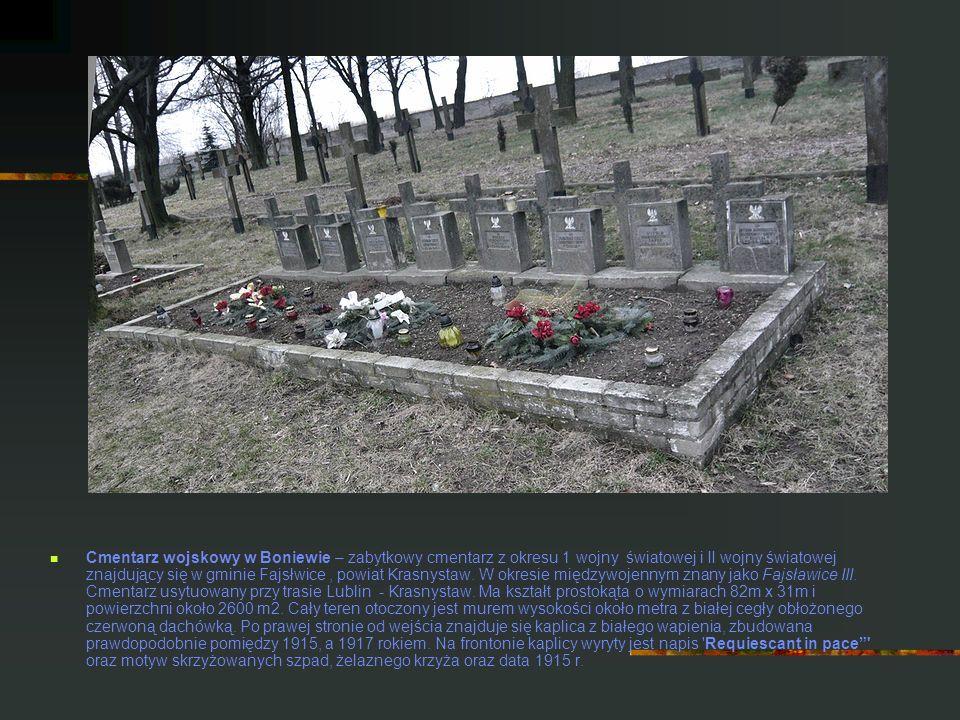Cmentarz wojskowy w Boniewie – zabytkowy cmentarz z okresu 1 wojny światowej i II wojny światowej znajdujący się w gminie Fajsłwice, powiat Krasnystaw