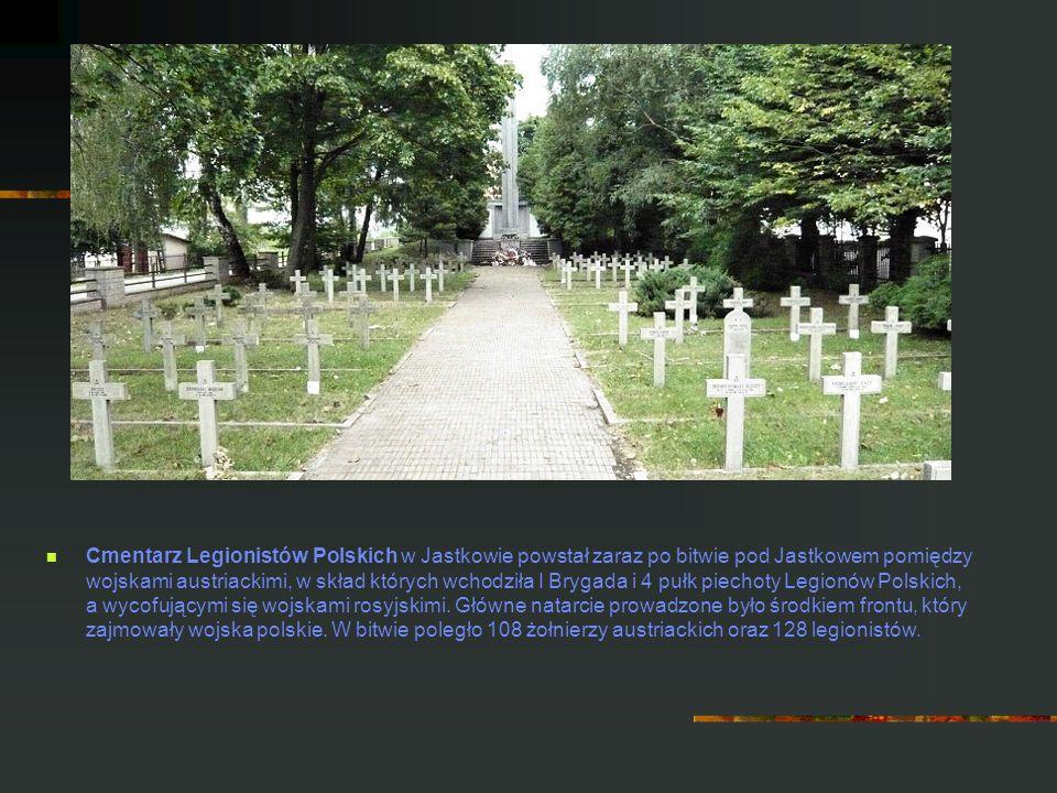 Cmentarz Legionistów Polskich w Jastkowie powstał zaraz po bitwie pod Jastkowem pomiędzy wojskami austriackimi, w skład których wchodziła I Brygada i