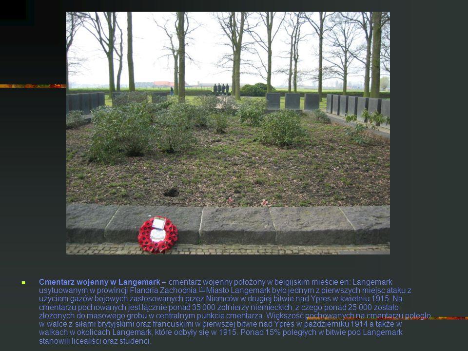 Cmentarz wojenny w Langemark – cmentarz wojenny położony w belgijskim mieście en: Langemark usytuowanym w prowincji Flandria Zachodnia. [1] Miasto Lan