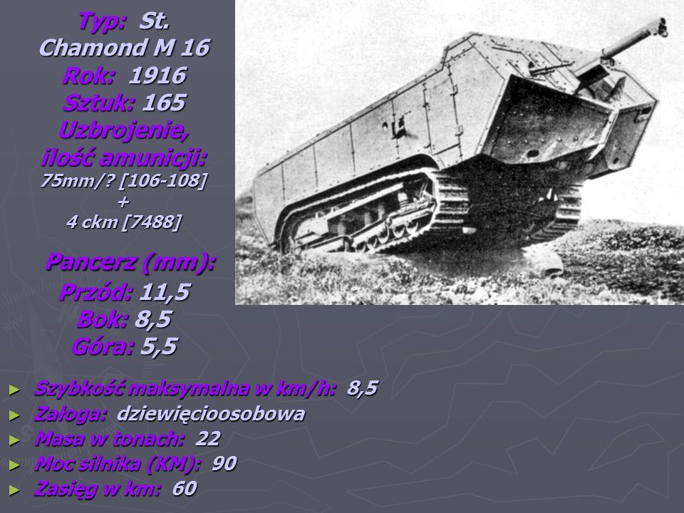 Typ: Schneider C.A.1 Rok: 1916 Sztuk: 400 Uzbrojenie.