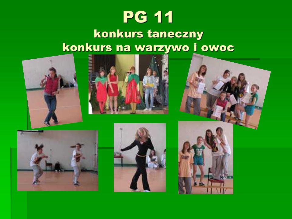 PG 11 konkurs taneczny konkurs na warzywo i owoc