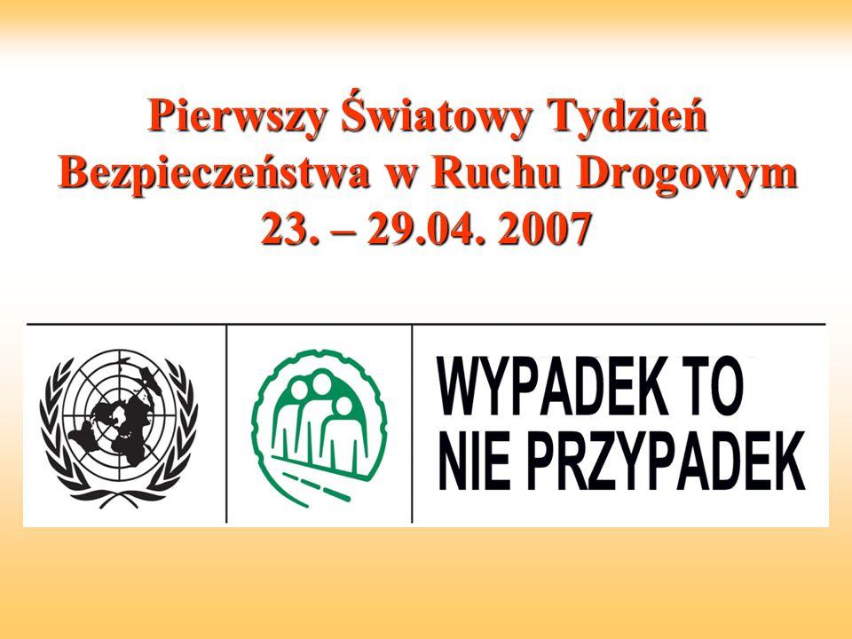 Pierwszy Światowy Tydzień Bezpieczeństwa w Ruchu Drogowym 23. – 29.04. 2007