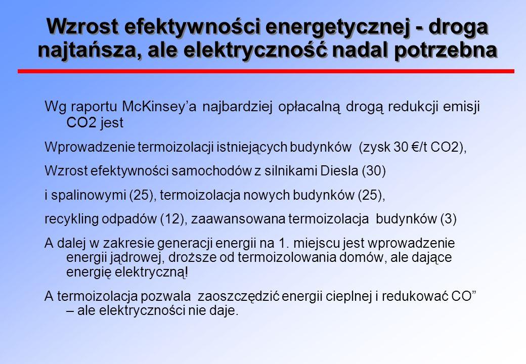 Energetyka jądrowa najtańszym źródłem czystej energii (McKinsey)