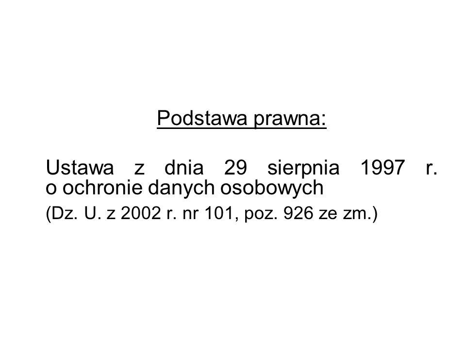 Dane osobowe Art.6. 1.