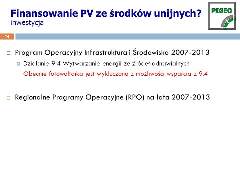 15 RPO Województwa Mazowieckiego Regionalny Program Operacyjny Województwa Mazowieckiego 2007-2013 Działanie4.3 Ochrona powietrza, energetyka Instytucja wdrażająca/pośrednicząca Mazowiecka Jednostka Wdrażania Programów Unijnych Pula pomocy ogółem ze środków unijnych: 49 895 000 euro ze środków publicznych krajowych: 8 805 000 euro Maksymalna wysokość dotacji do 60% kosztów kwalifikowanych (dla mikro- i małych przedsiębiorstw) Rodzaj projektu (...) budowa jednostek wytwórczych energii elektrycznej wykorzystujących biomasę, biogaz, energię słoneczną, wiatru oraz wody w elektrowniach wodnych do 10 MW, Najbliższy nabórod 29 października do 29 grudnia 2010 r.