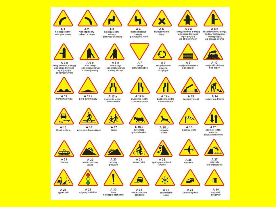 ZNAKI ZAKAZU Informują one o zakazie ruchu bądź o jego ograniczeniach na określonym obszarze.
