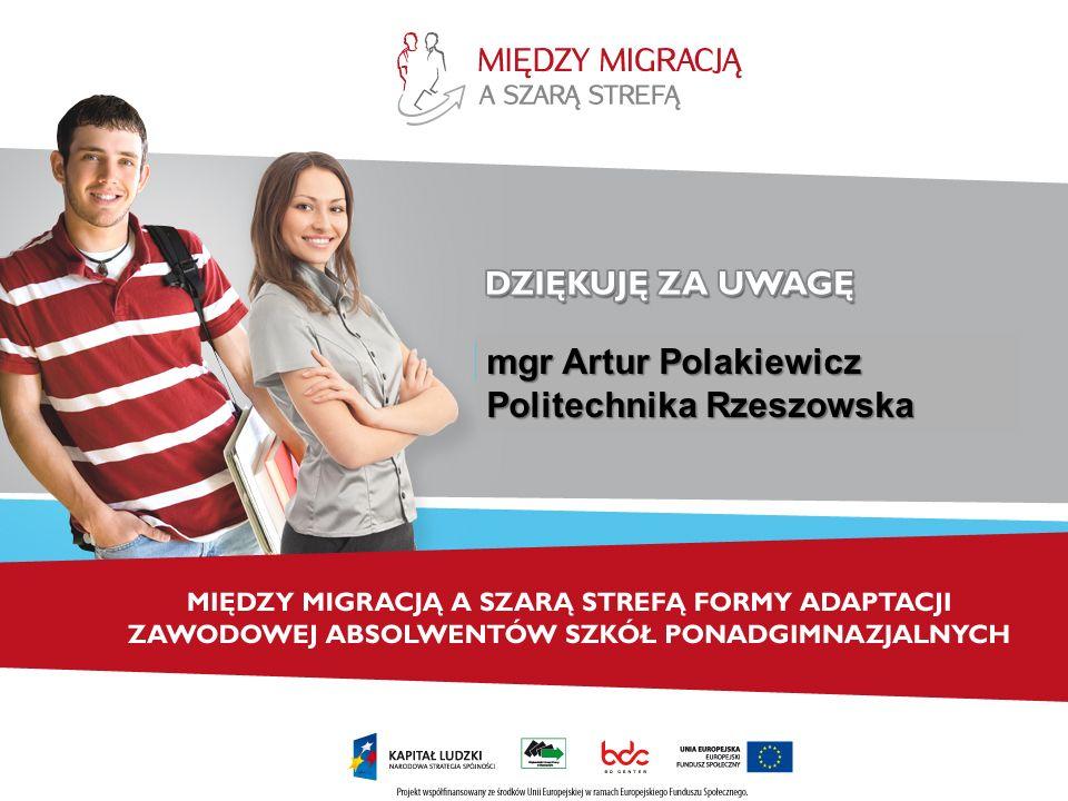 mgr Artur Polakiewicz Politechnika Rzeszowska