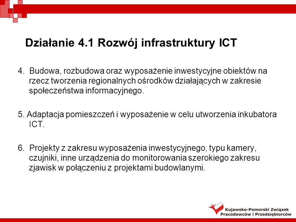 Działanie 4.1 Rozwój infrastruktury ICT 4.
