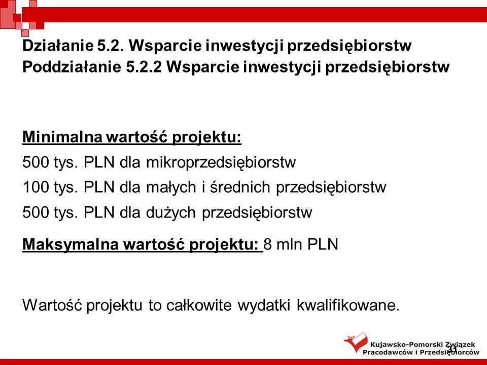 31 Działanie 5.2.