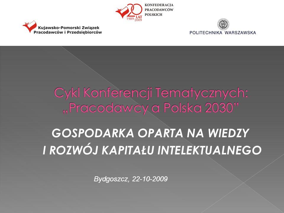 l GOSPODARKA OPARTA NA WIEDZY I ROZWÓJ KAPITAŁU INTELEKTUALNEGO Bydgoszcz, 22-10-2009