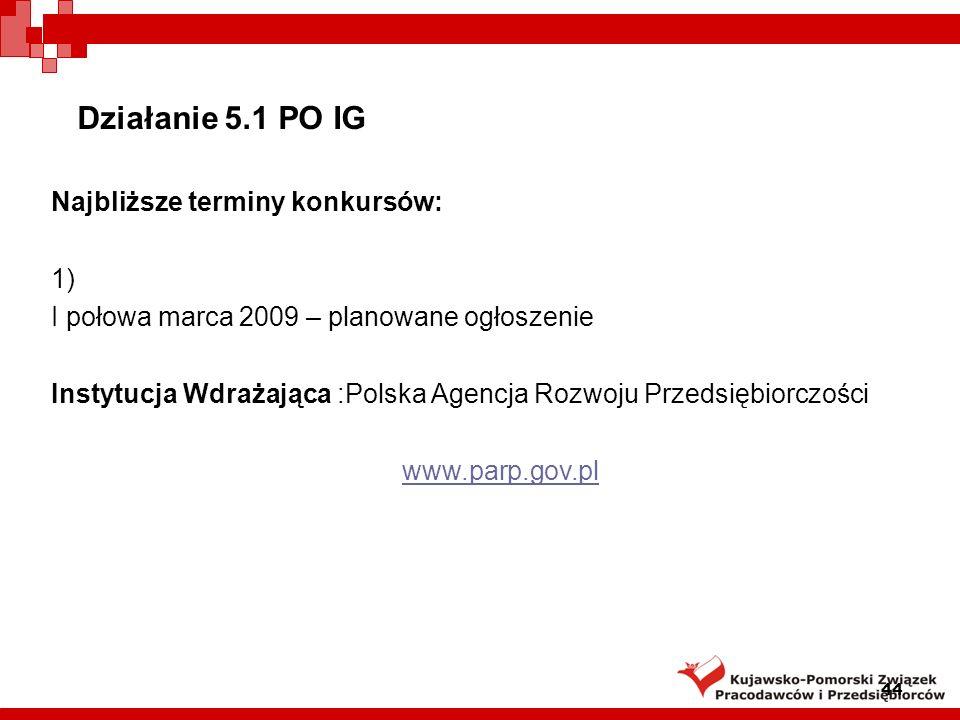 Działanie 6.1 Paszport do eksportu Podstawa prawna: rozporządzenie Ministra Rozwoju Regionalnego z dnia 7 kwietnia 2008 r.