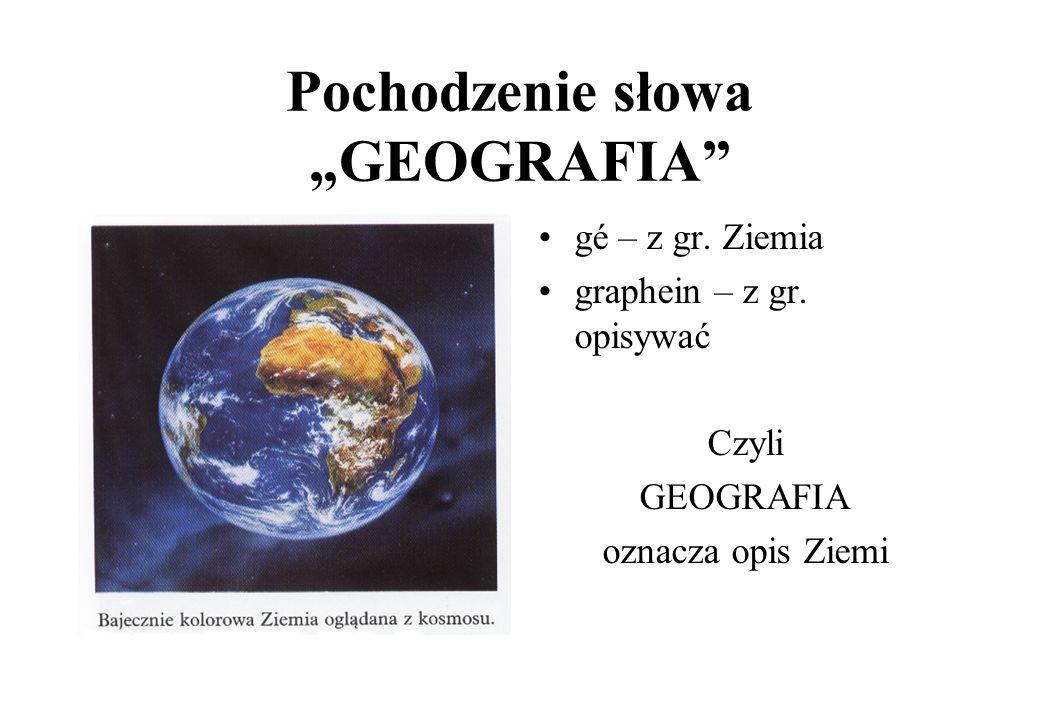 Czym zajmuje się geografia?