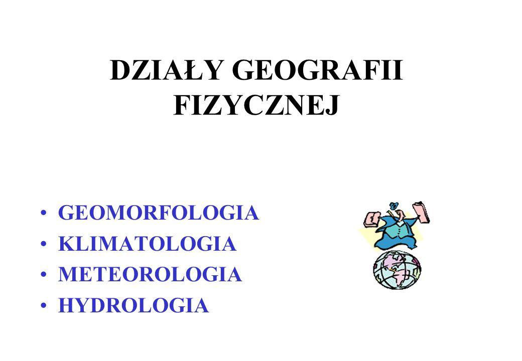 GEOGRAFIA FIZYCZNA Bada środowisko przyrodnicze Ziemi, elementy tego środowiska i powiązania między nimi