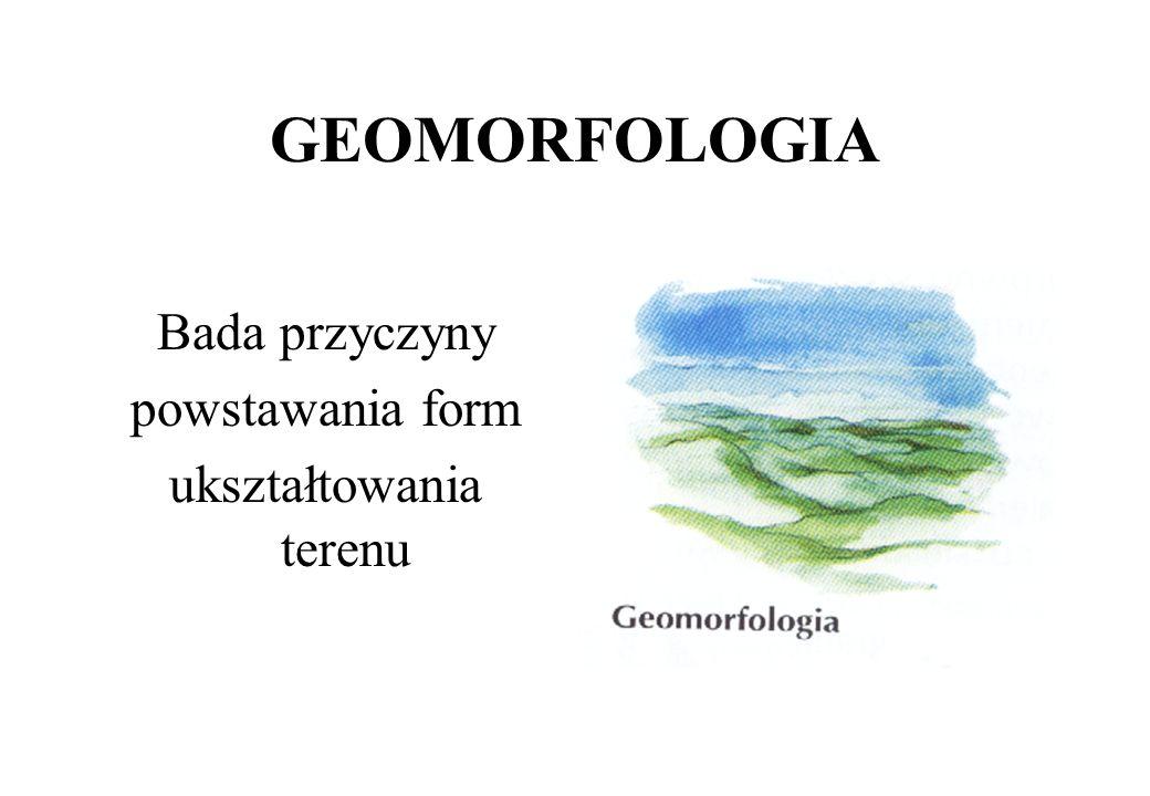 DZIAŁY GEOGRAFII FIZYCZNEJ GEOMORFOLOGIA KLIMATOLOGIA METEOROLOGIA HYDROLOGIA