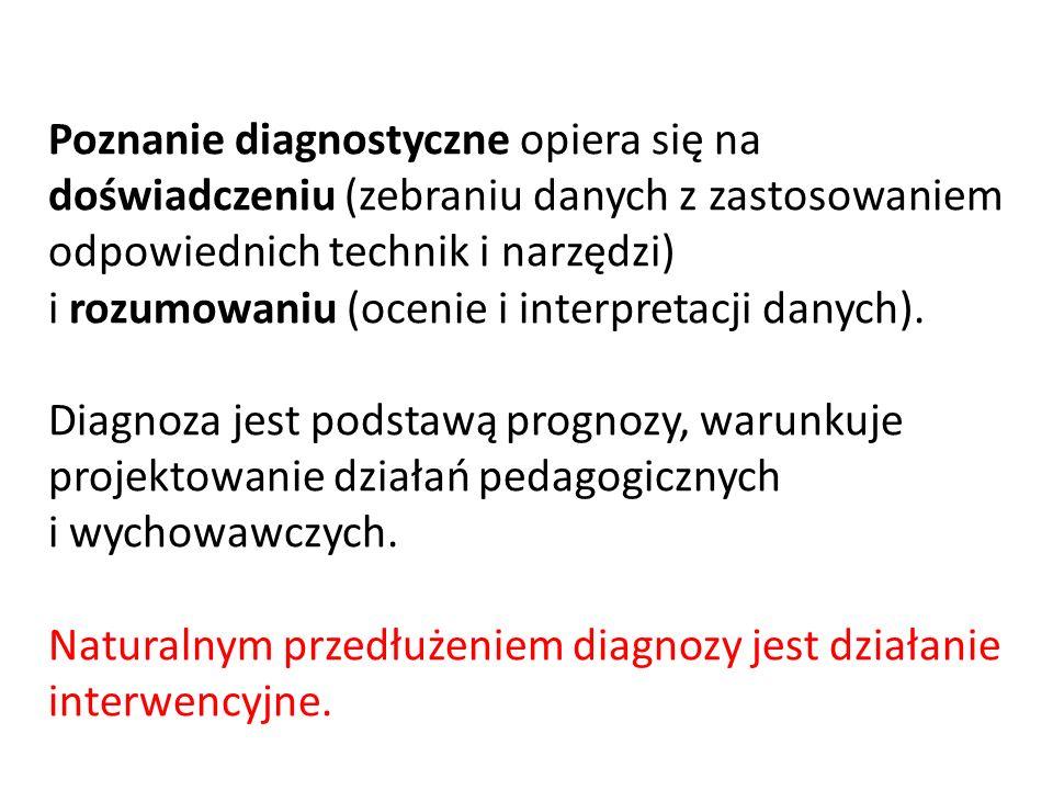 W procesie diagnostycznym można wyróżnić trzy ogólne obszary problemowe: 1.Co rzeczywiście jest.