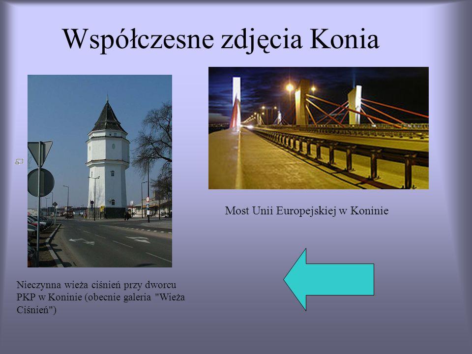 Współczesne zdjęcia Konia Nieczynna wieża ciśnień przy dworcu PKP w Koninie (obecnie galeria