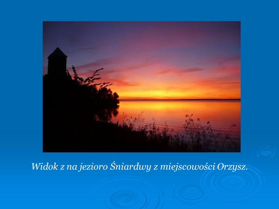 Widok z na jezioro Śniardwy z miejscowości Orzysz.