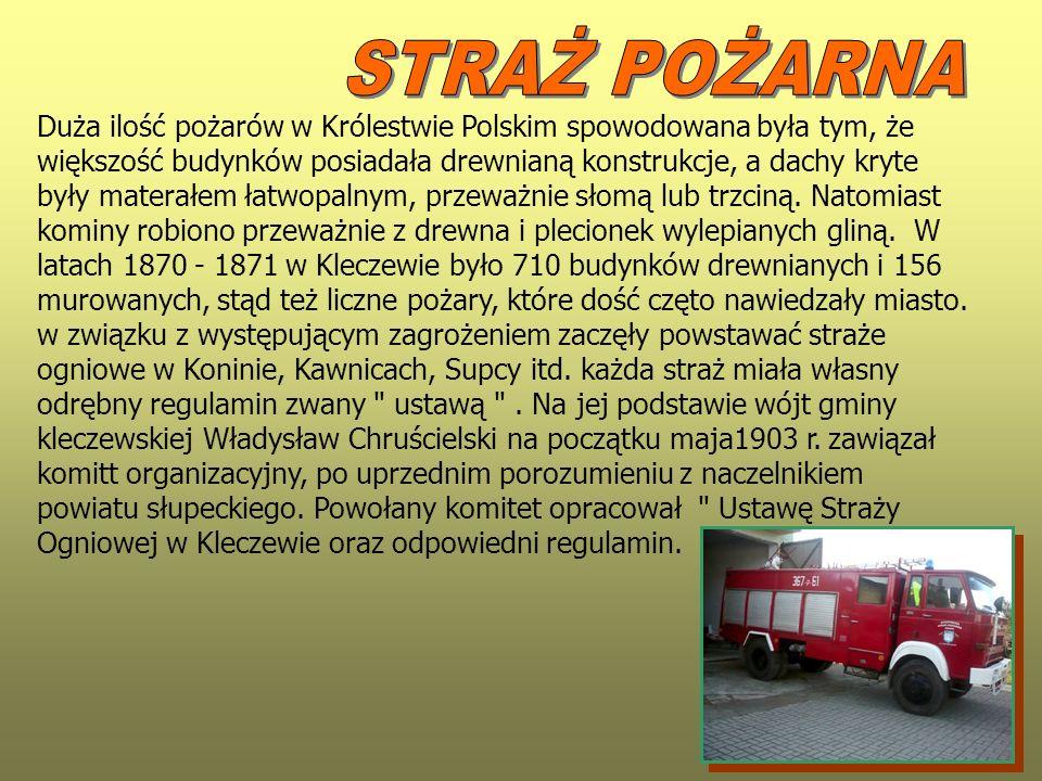 Duża ilość pożarów w Królestwie Polskim spowodowana była tym, że większość budynków posiadała drewnianą konstrukcje, a dachy kryte były materałem łatw