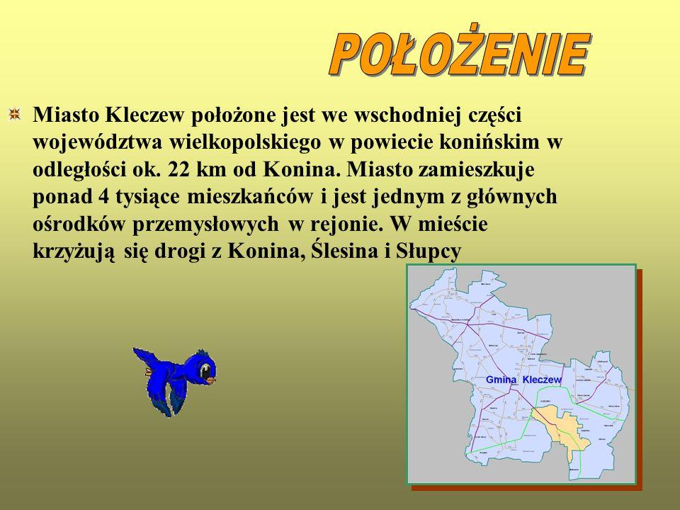 Miasto Kleczew położone jest we wschodniej części województwa wielkopolskiego w powiecie konińskim w odległości ok. 22 km od Konina. Miasto zamieszkuj