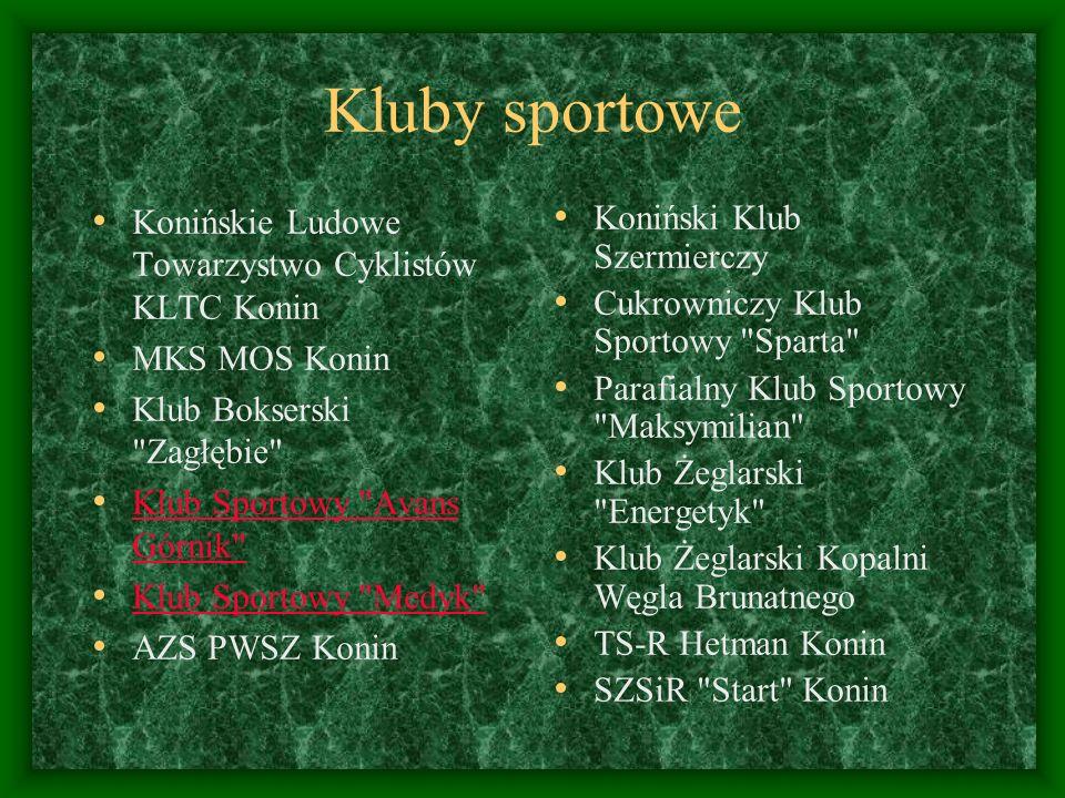 Kluby sportowe Konińskie Ludowe Towarzystwo Cyklistów KLTC Konin MKS MOS Konin Klub Bokserski