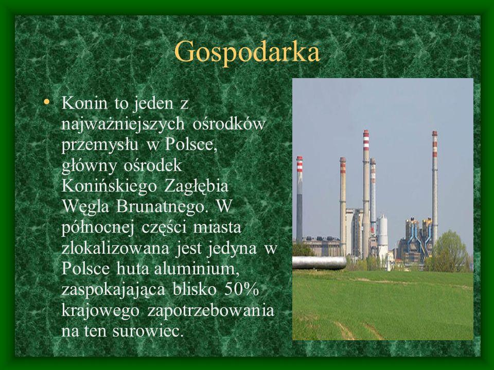 Gospodarka Konin to jeden z najważniejszych ośrodków przemysłu w Polsce, główny ośrodek Konińskiego Zagłębia Węgla Brunatnego. W północnej części mias