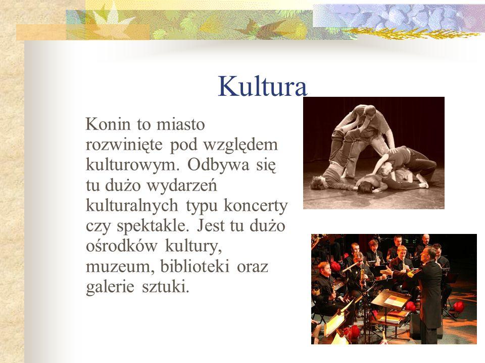 Kultura Konin to miasto rozwinięte pod względem kulturowym. Odbywa się tu dużo wydarzeń kulturalnych typu koncerty czy spektakle. Jest tu dużo ośrodkó