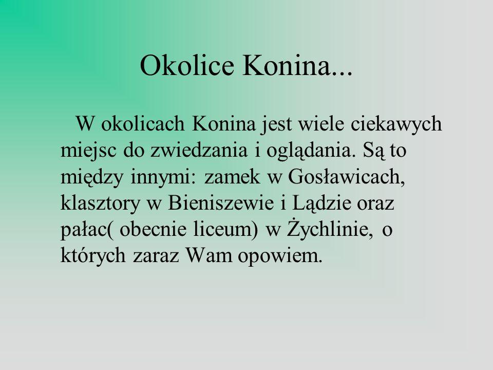 Okolice Konina... W okolicach Konina jest wiele ciekawych miejsc do zwiedzania i oglądania. Są to między innymi: zamek w Gosławicach, klasztory w Bien