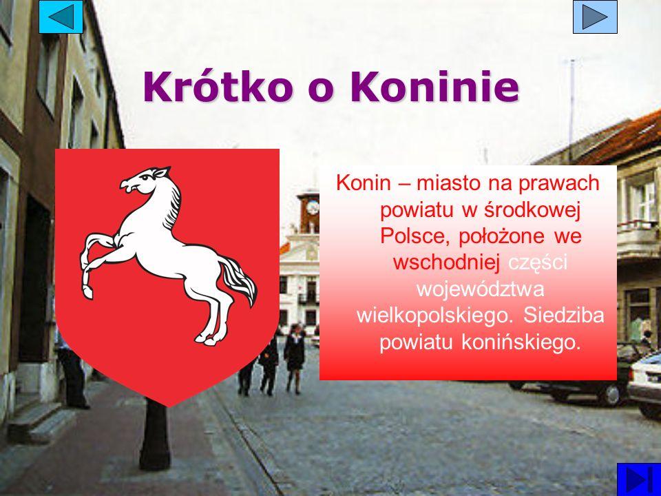 Krótko o Koninie Konin – miasto na prawach powiatu w środkowej Polsce, położone we wschodniej części województwa wielkopolskiego. Siedziba powiatu kon