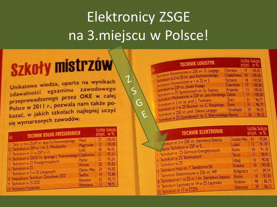 Elektronicy ZSGE na 3.miejscu w Polsce! ZSGEZSGE