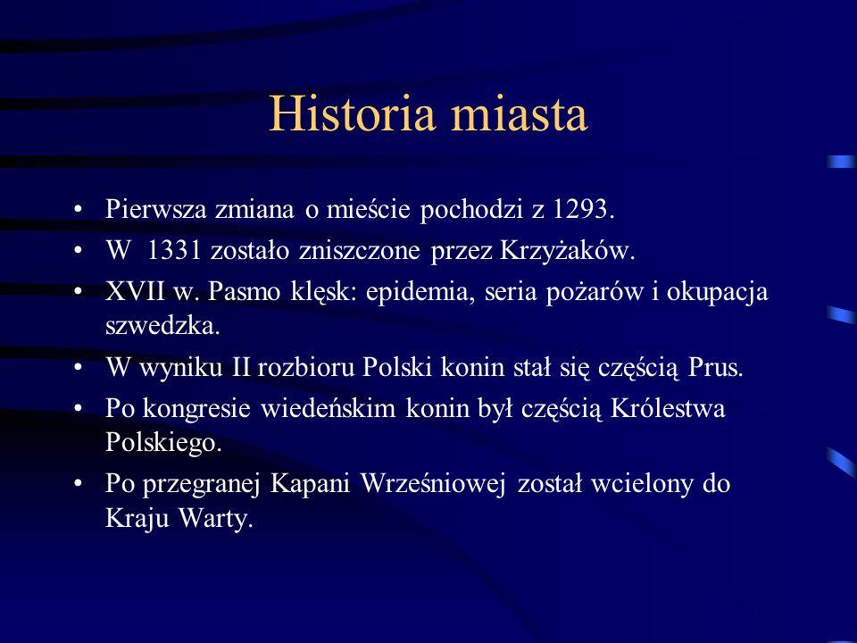 Historia miasta Pierwsza zmiana o mieście pochodzi z 1293.