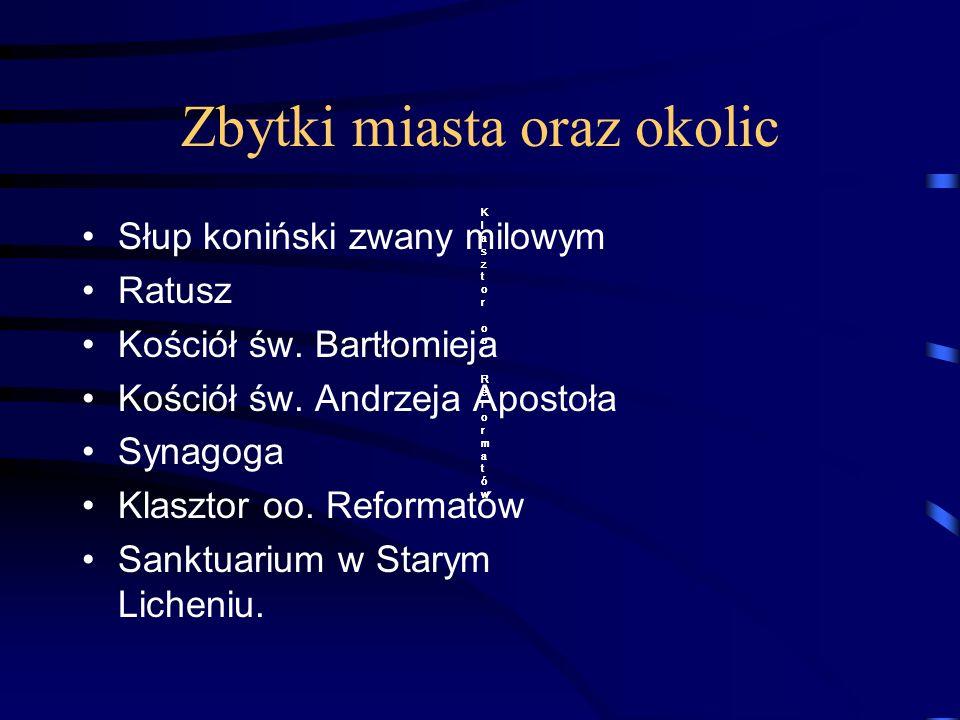 Zbytki miasta oraz okolic Słup koniński zwany milowym Ratusz Kościół św.