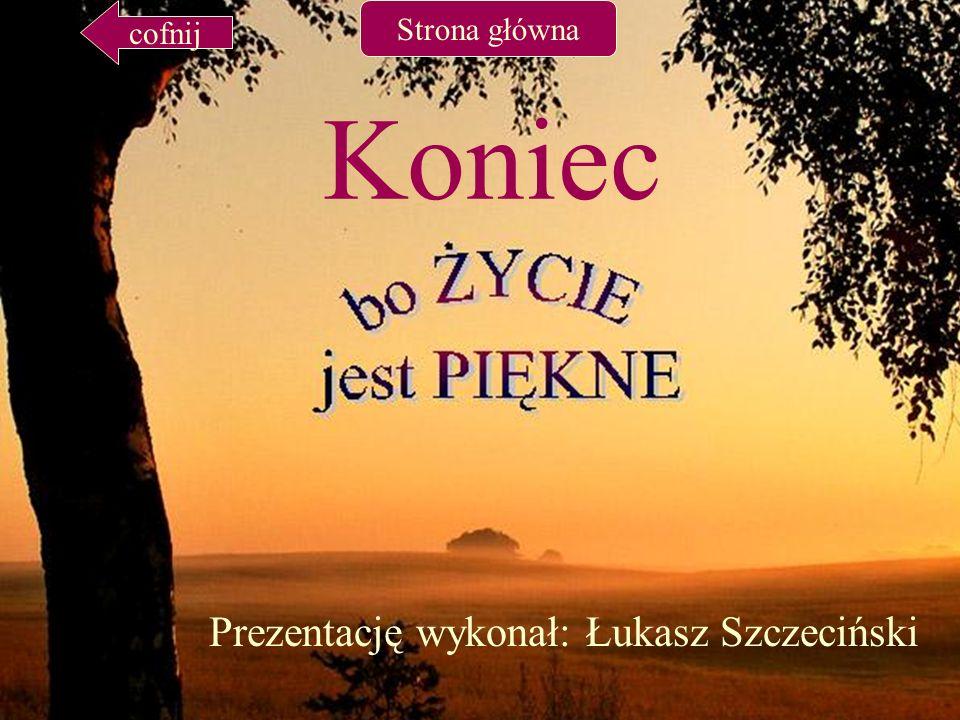 Koniec Prezentację wykonał: Łukasz Szczeciński cofnij Strona główna