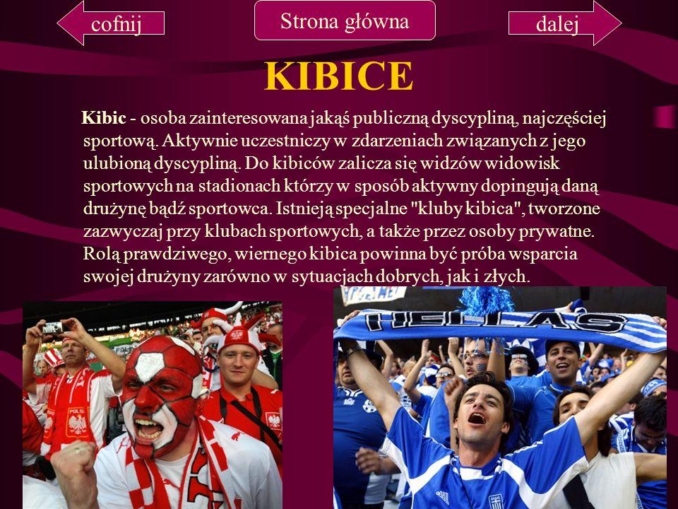 KIBICE Kibic - osoba zainteresowana jakąś publiczną dyscypliną, najczęściej sportową. Aktywnie uczestniczy w zdarzeniach związanych z jego ulubioną dy