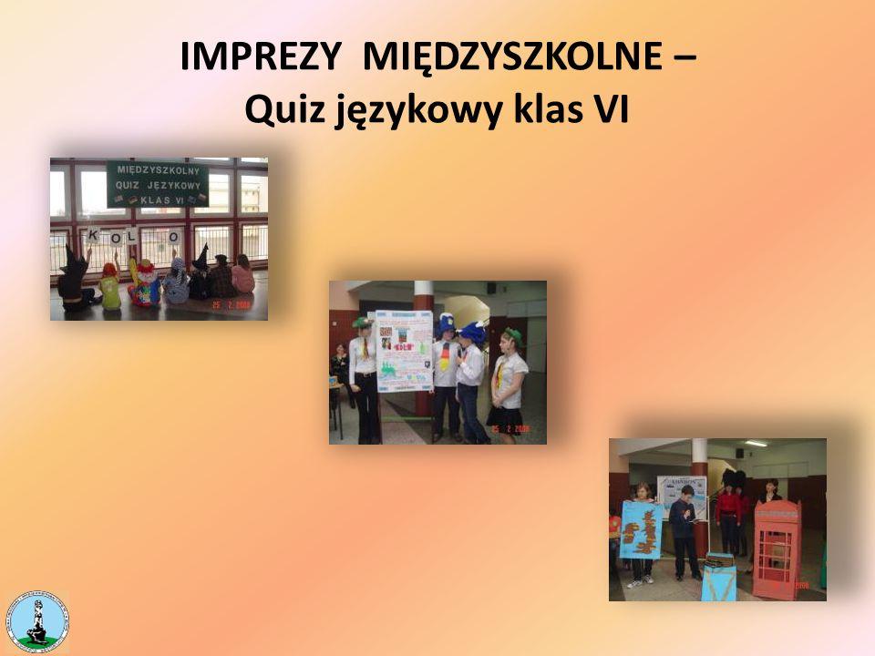 IMPREZY MIĘDZYSZKOLNE – Quiz językowy klas VI