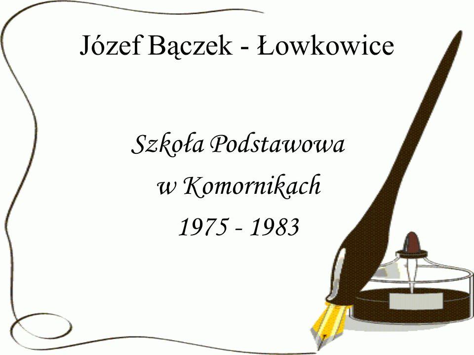 Józef Bączek - Łowkowice Szkoła Podstawowa w Komornikach 1975 - 1983