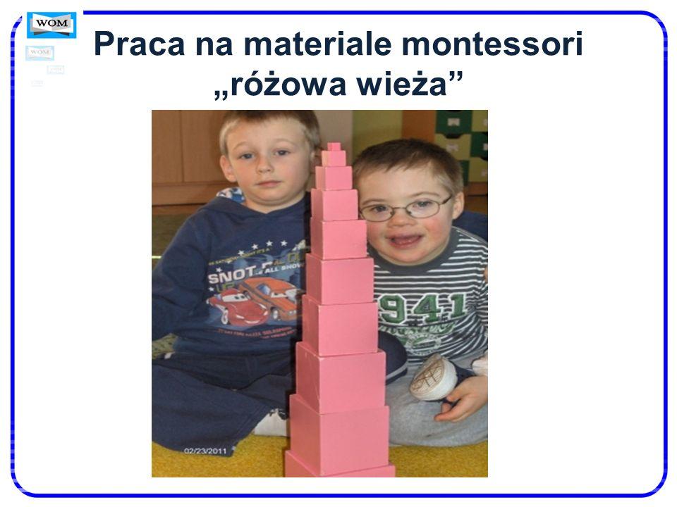 Praca na materiale montessori różowa wieża