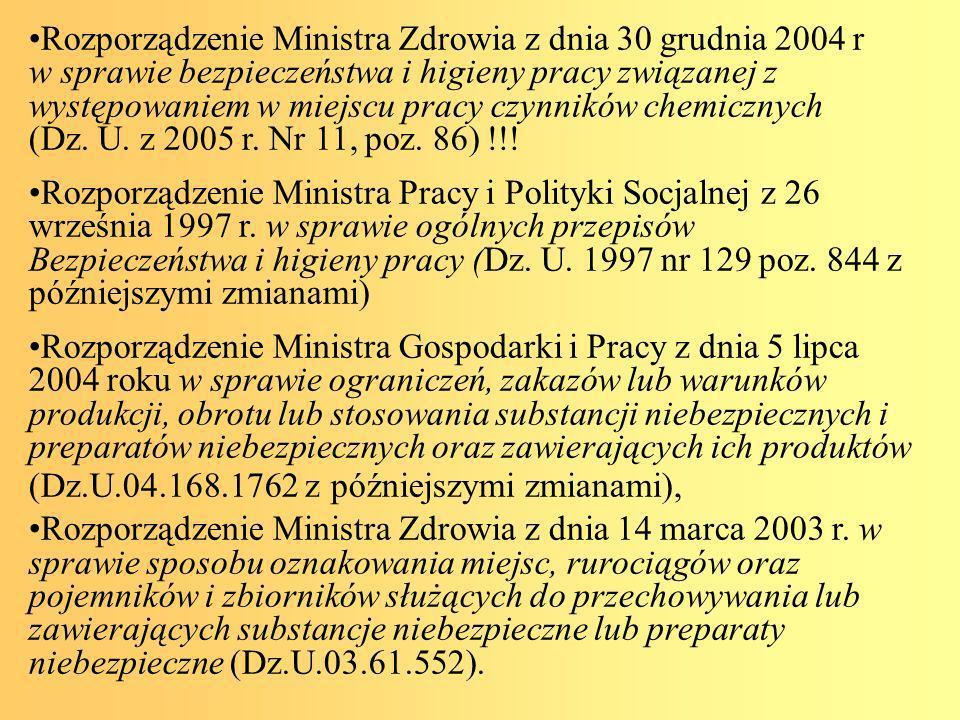 Rozporządzenie Ministra Zdrowia z dnia 14 października 2005 r.