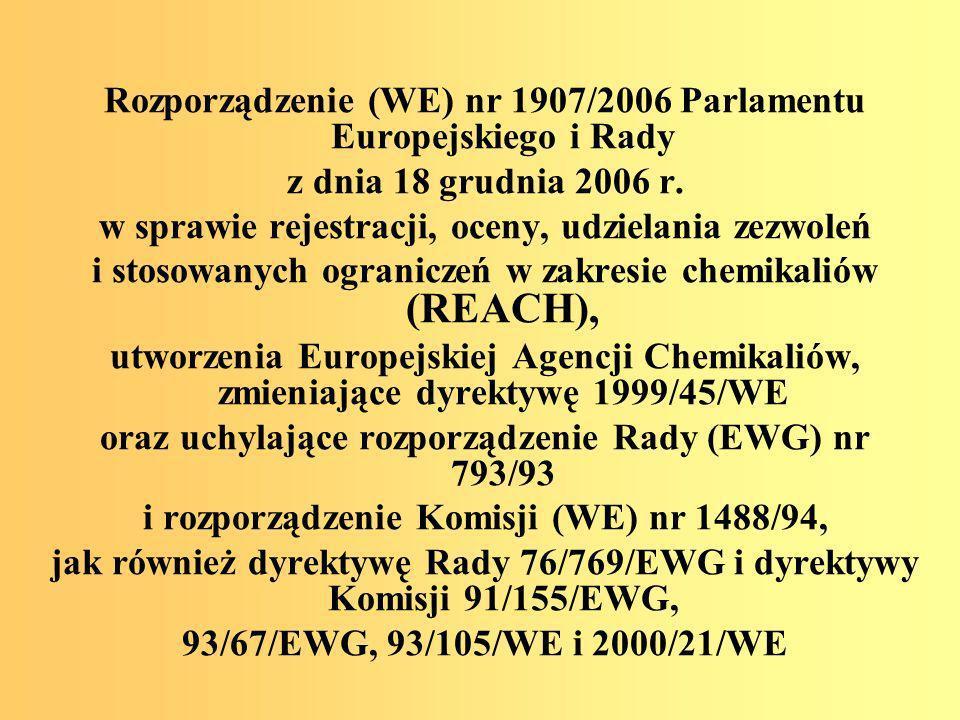 ROZPORZĄDZENIE MINISTRA ZDROWIA z dnia 30 grudnia 2004 r w sprawie bezpieczeństwa i higieny pracy związanej z występowaniem w miejscu pracy czynników chemicznych (Dz.
