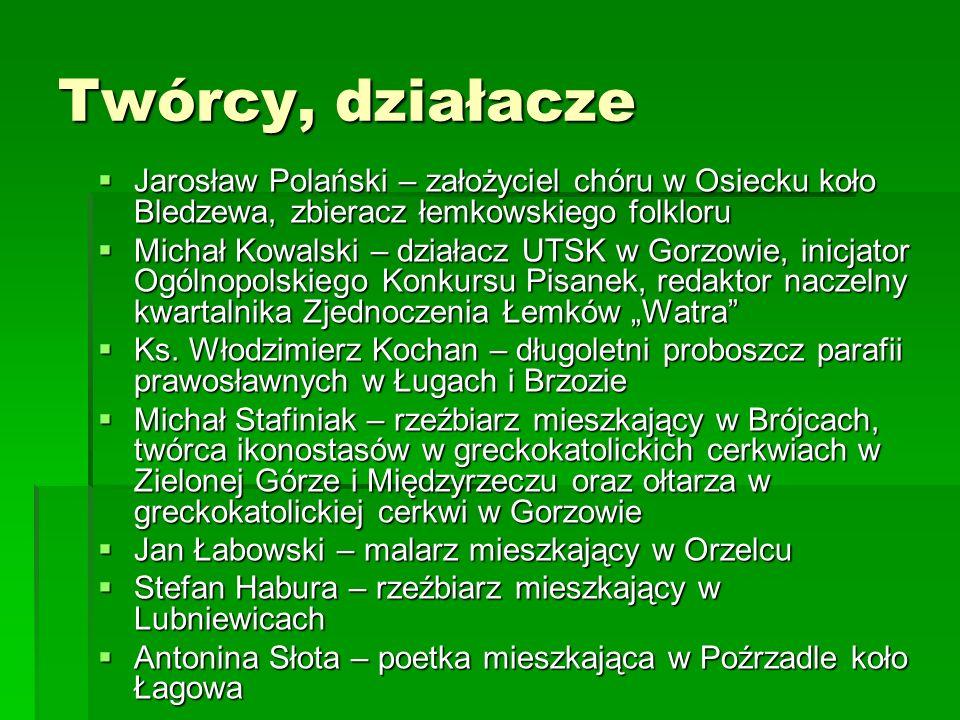 Twórcy, działacze Jarosław Polański – założyciel chóru w Osiecku koło Bledzewa, zbieracz łemkowskiego folkloru Jarosław Polański – założyciel chóru w
