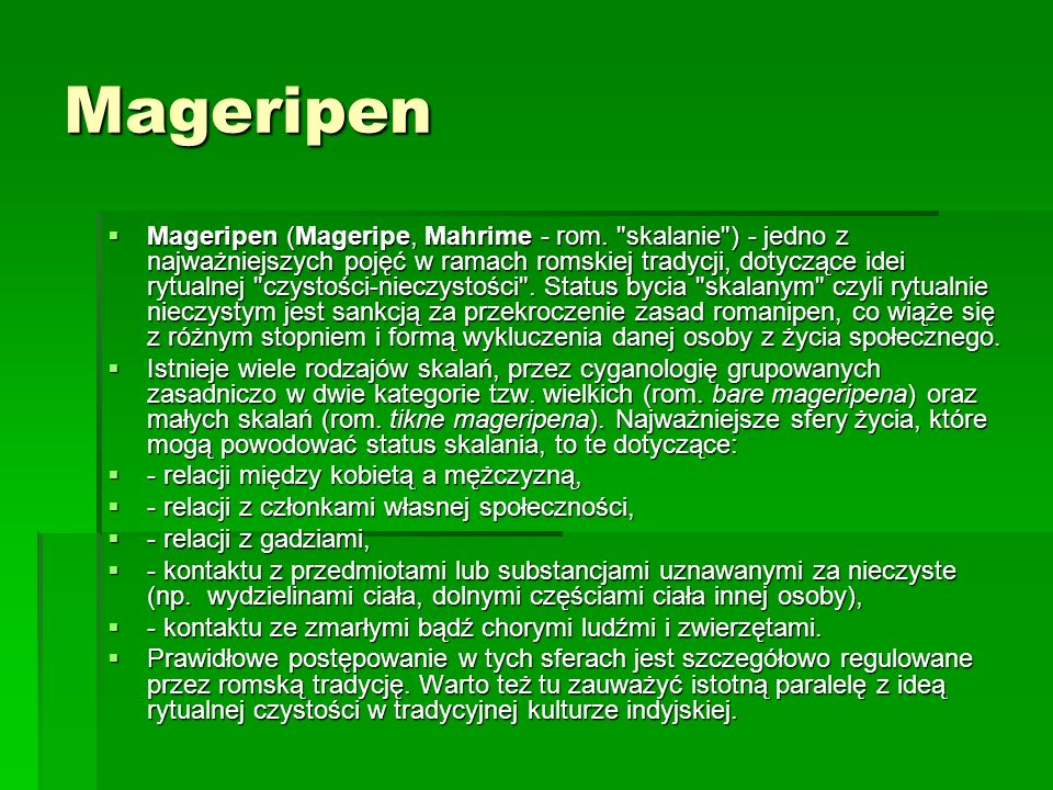 Mageripen Mageripen (Mageripe, Mahrime - rom.