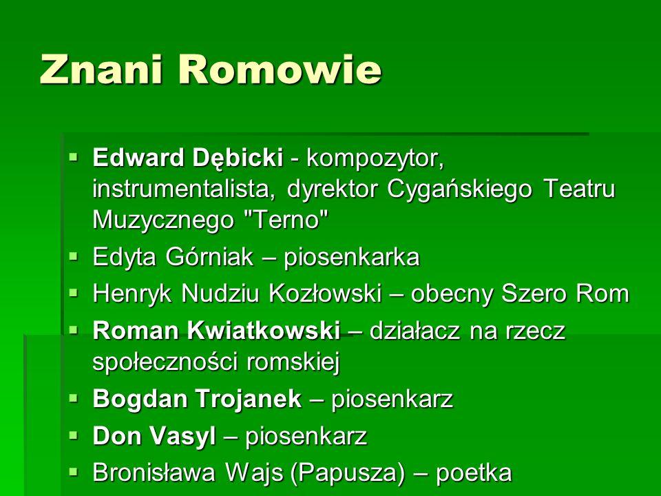 Znani Romowie Edward Dębicki - kompozytor, instrumentalista, dyrektor Cygańskiego Teatru Muzycznego