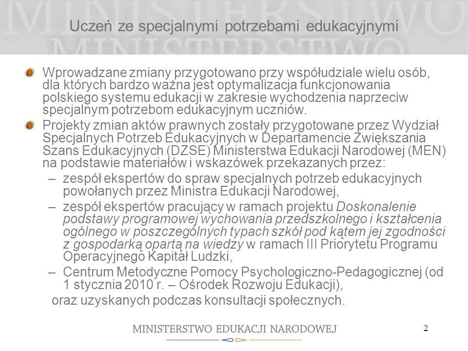3 Organizacja kształcenia zawodowego i ustawicznego Wprowadzane zmiany przygotowano przy współudziale wielu osób, dla których bardzo ważna jest optymalizacja funkcjonowania polskiego systemu edukacji w zakresie kształcenia zawodowego i ustawicznego.