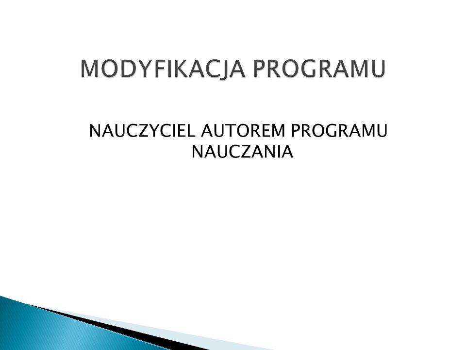 NAUCZYCIEL AUTOREM PROGRAMU NAUCZANIA
